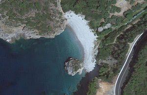 Foneas Beach Map view