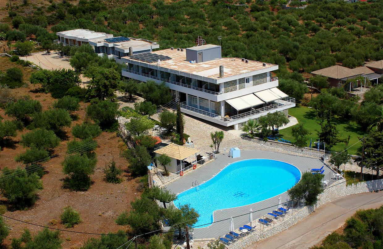 Kardamili Beach Hotel Pool Air View