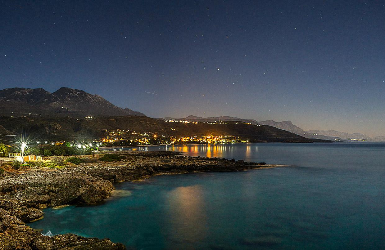 View to Kardamili At Night
